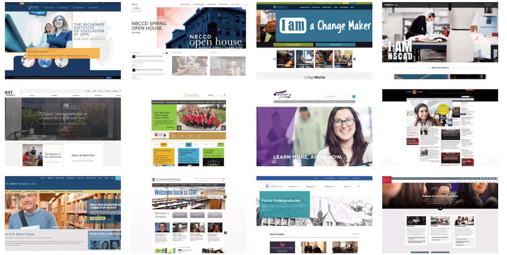 What 170 HigherEd Website Homepage Images Reveal